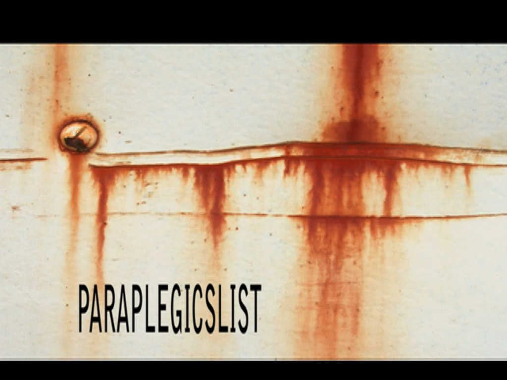 PARAPLEGICSLIST THE MOVIE's video poster