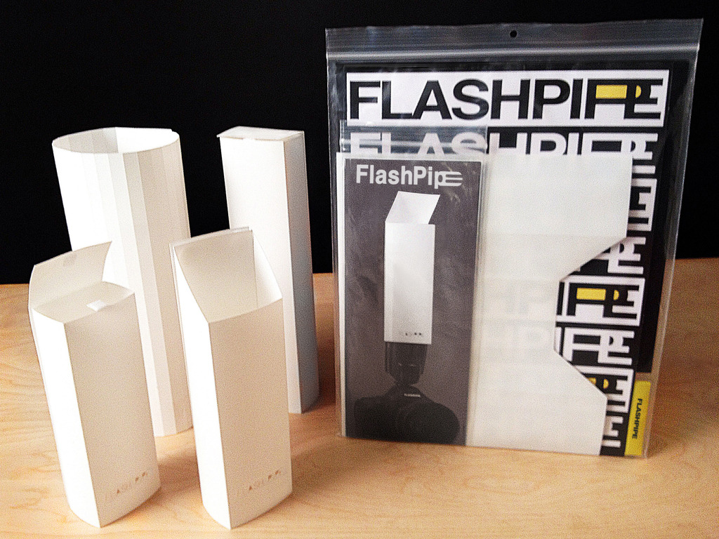 FlashPipe, the clever new camera flash diffuser accessory.'s video poster