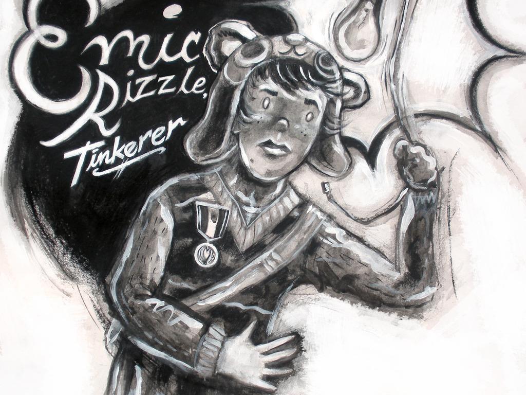 NIKOLA TESLA middle grade novel: EMIC RIZZLE, TINKERER's video poster