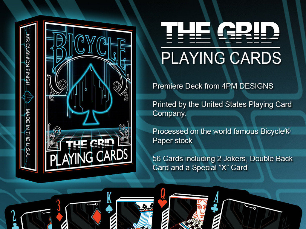 THE GRID, A Bicycle® Playing Card Deck by 4PM DESIGNS's video poster