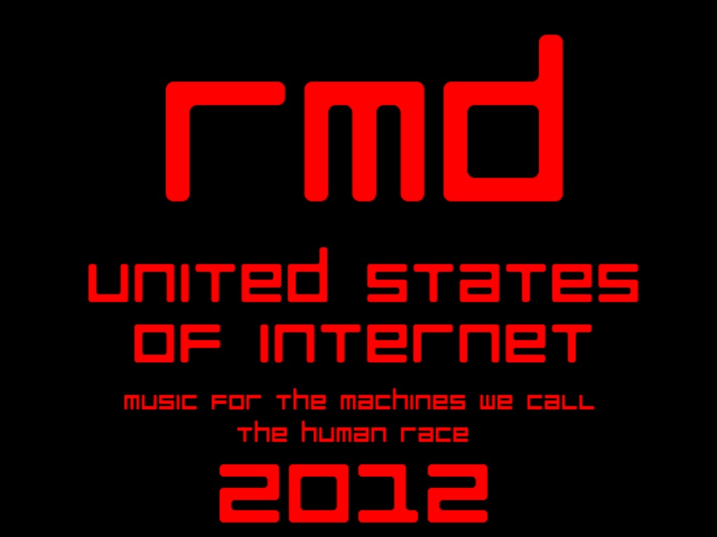 RMD - UNITED STATES OF INTERNET - EBM/industrial album's video poster