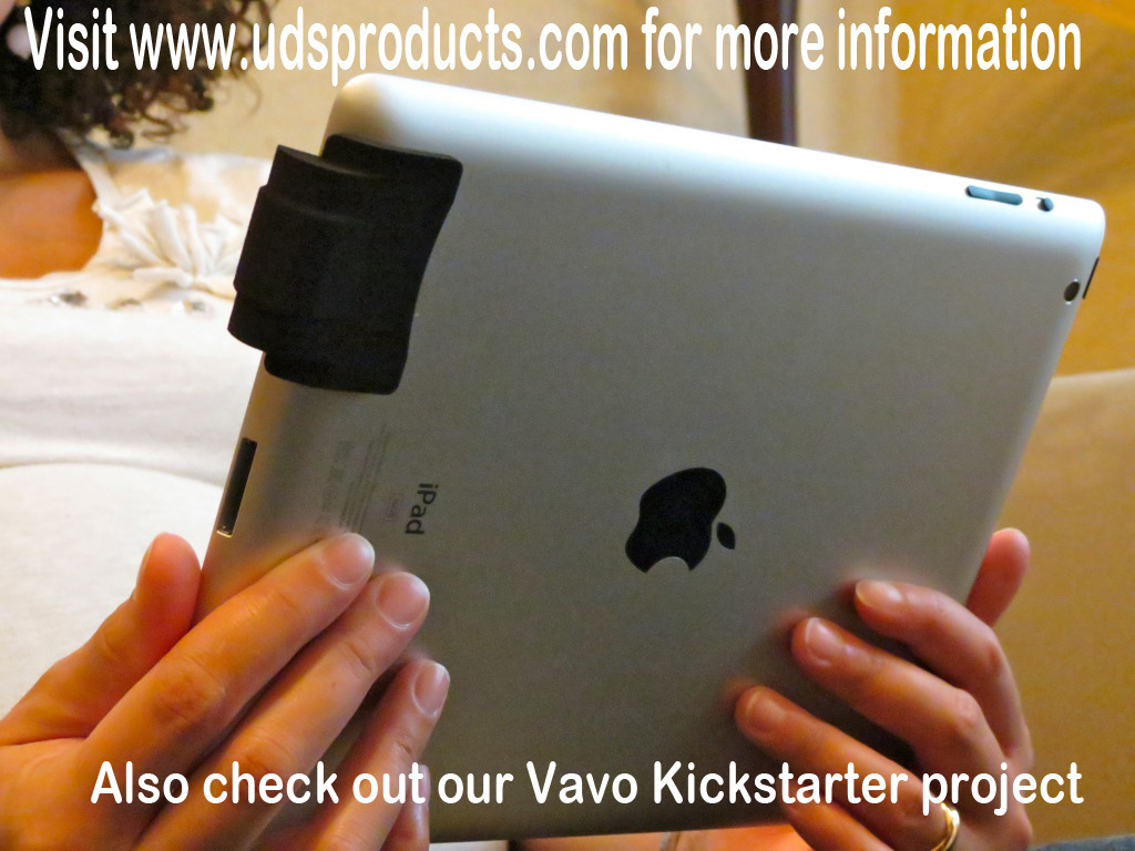 Foco - Sound enhancing device for new iPad 3 and iPad 2's video poster