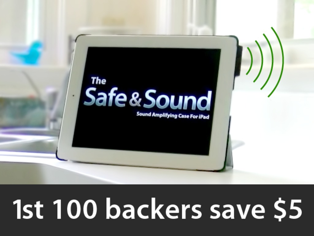 Safe & Sound - sound amplifying case for iPad 2 and 3's video poster