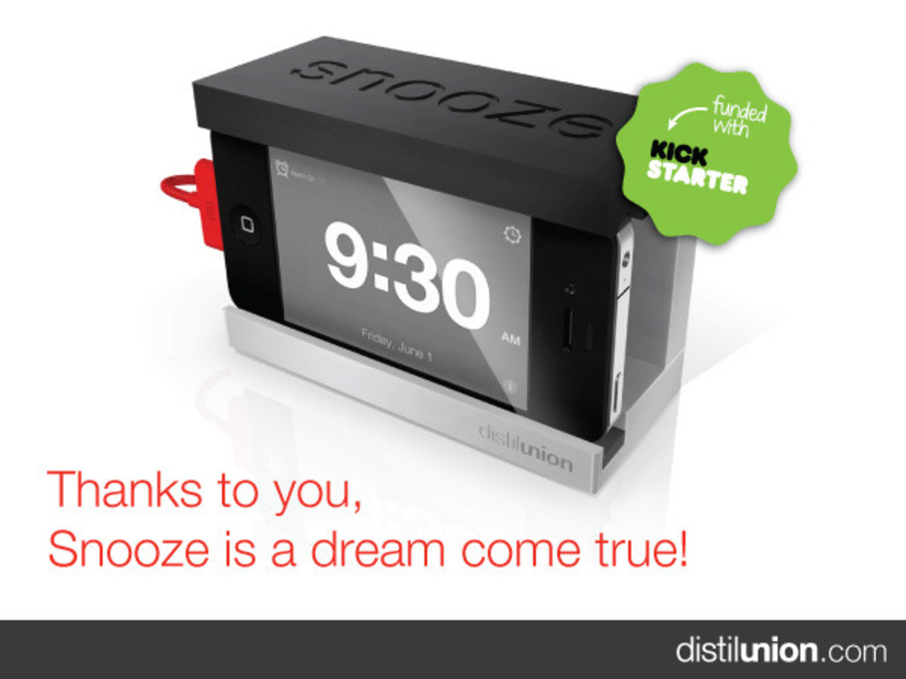 Snooze - The iPhone Alarm Dock with a Big Snooze Bar's video poster