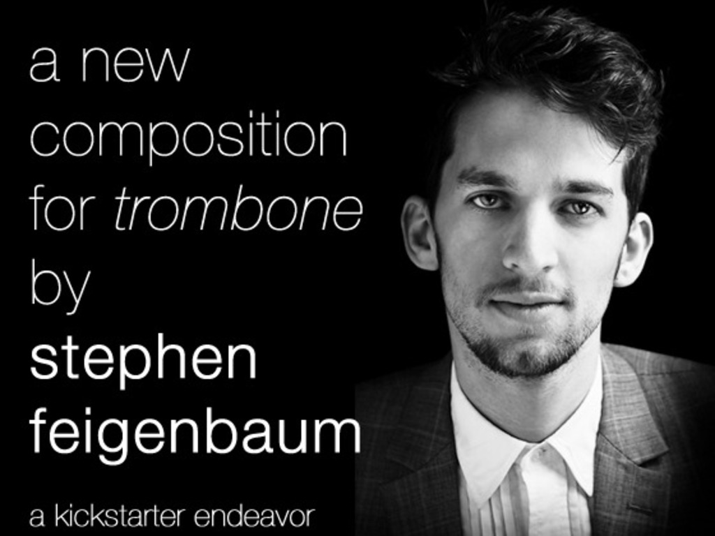 New composition for trombone by Stephen Feigenbaum's video poster