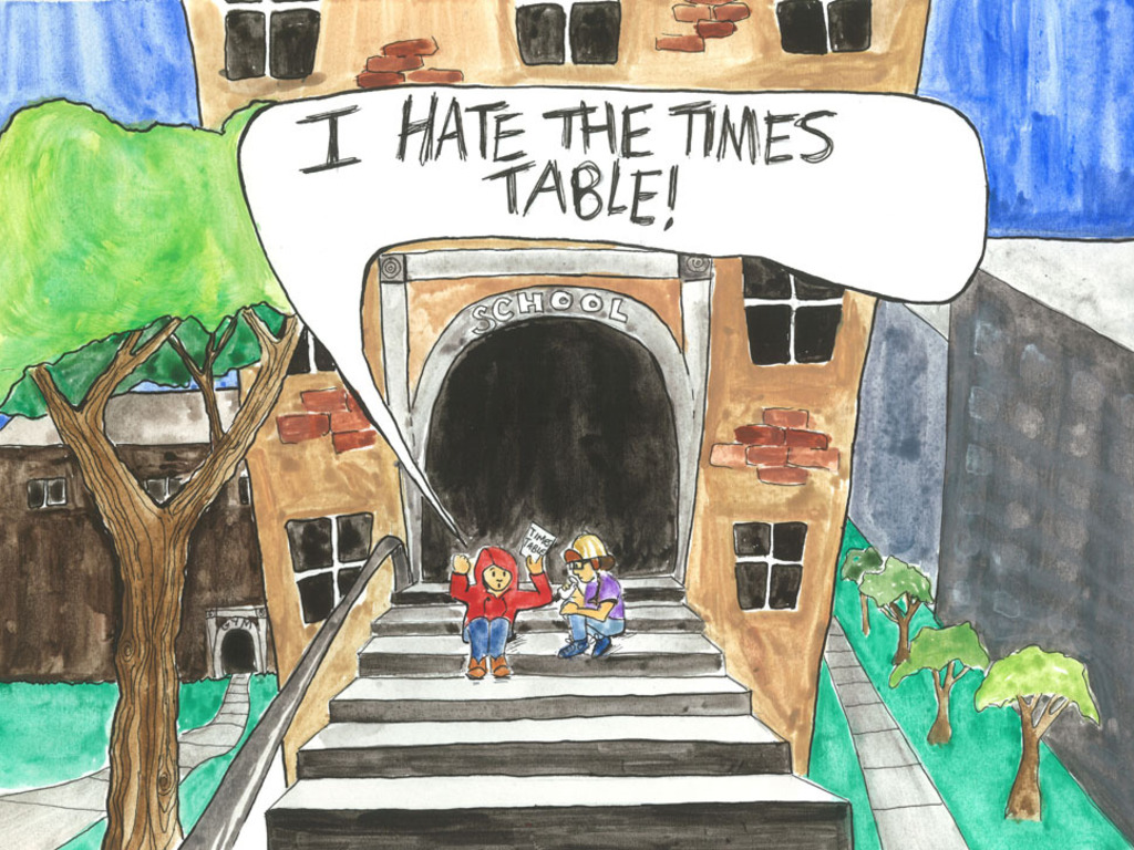 I HATE THE TIMES TABLE!! A kid's book about math.'s video poster