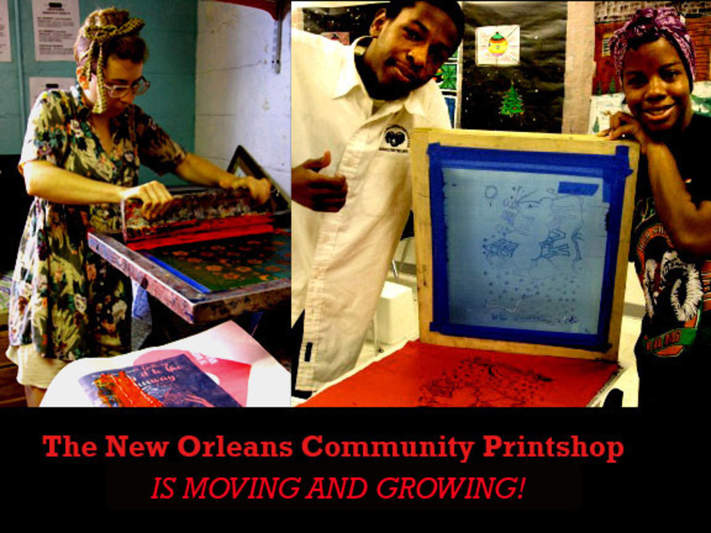 The New Orleans Community Printshop is moving and growing!'s video poster