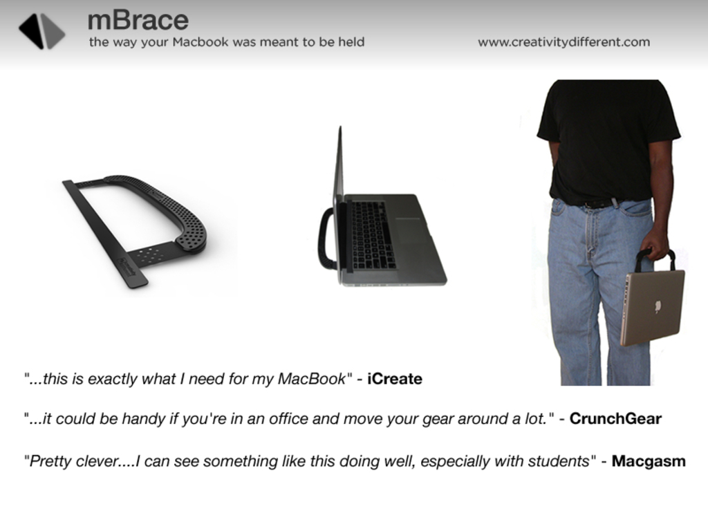 mBrace - the way your Macbook was meant to be held's video poster