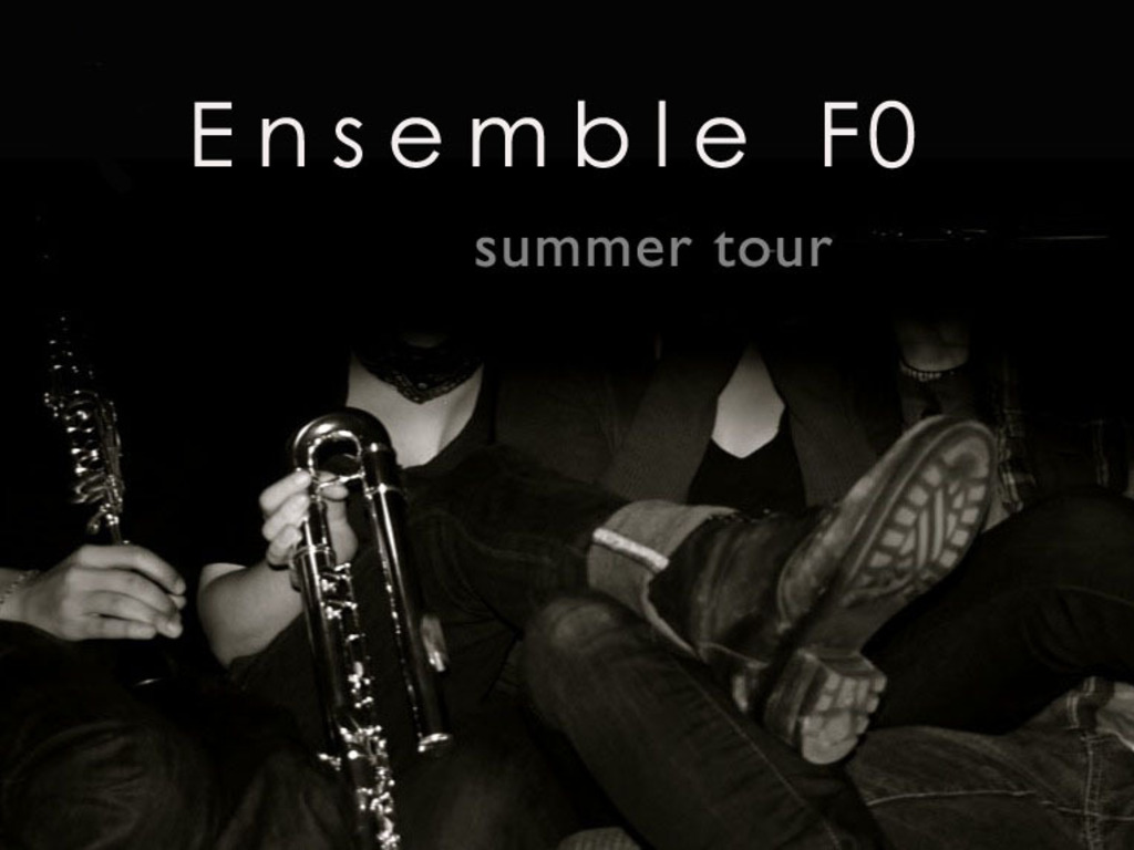 Ensemble f0  :  Summer Tour 2012  :  Commission Project's video poster