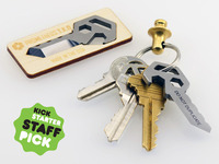 Prometheus Emergency Box / Bottle Opener and Keychain QR