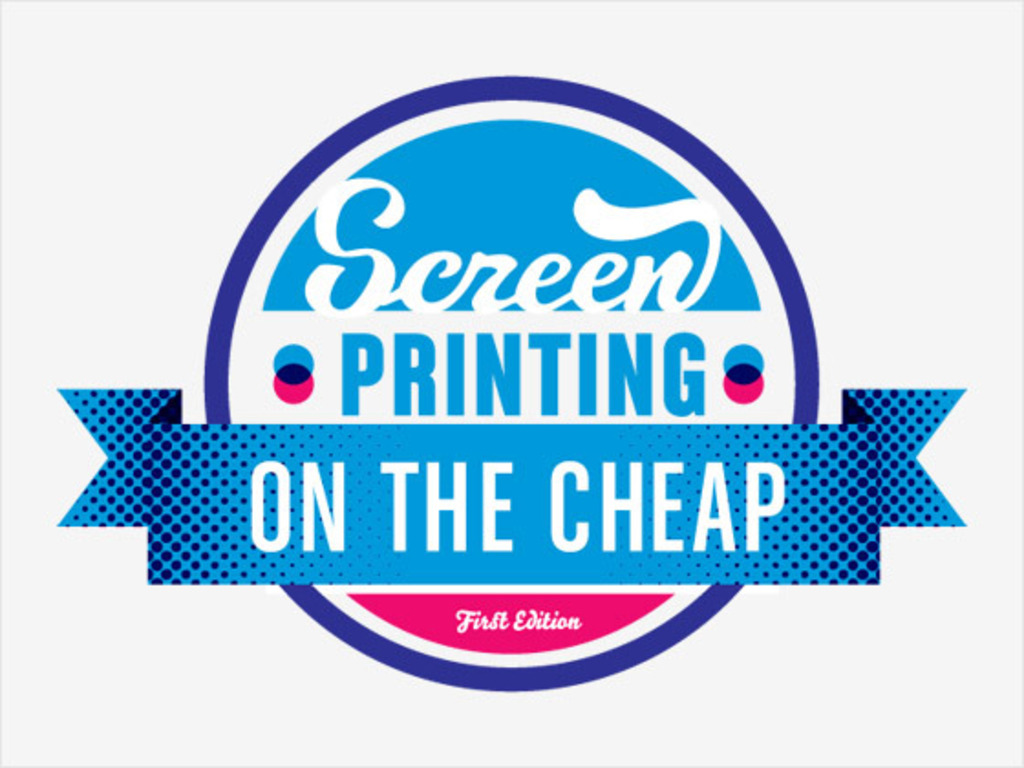 Screen Printing: On the Cheap Book's video poster