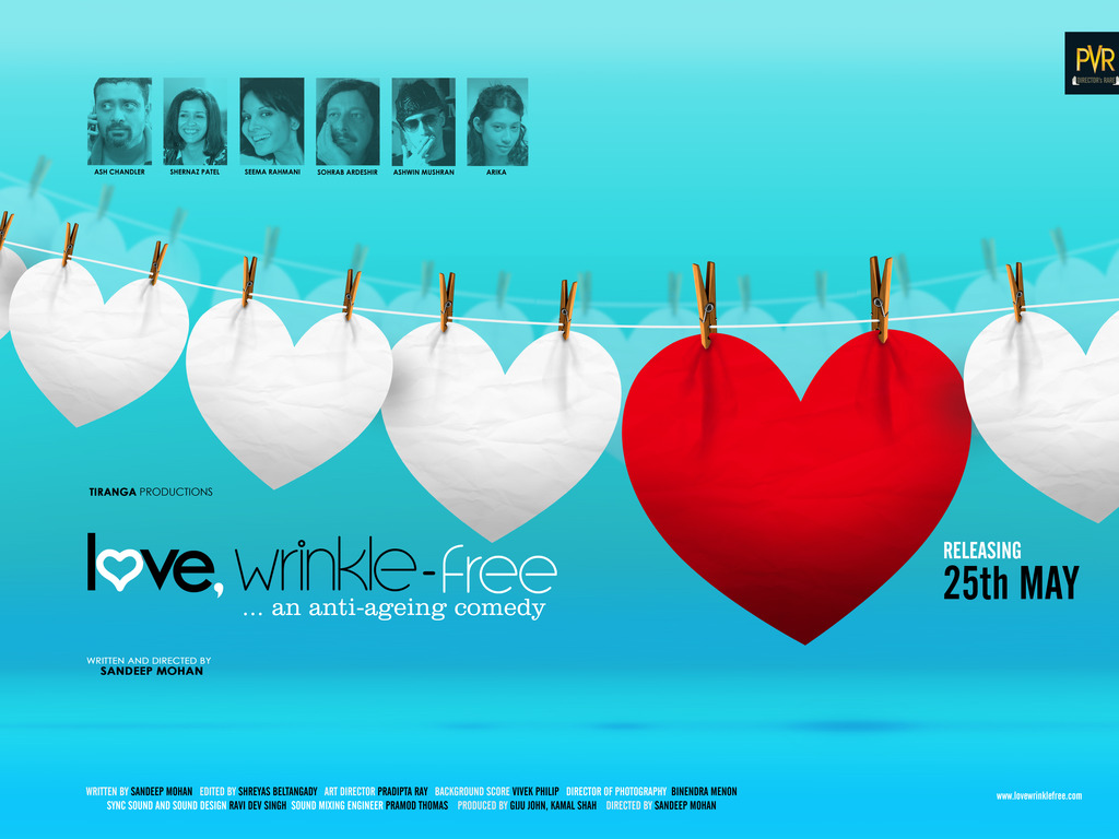 Theatrical release of the film 'Love, Wrinkle-free''s video poster