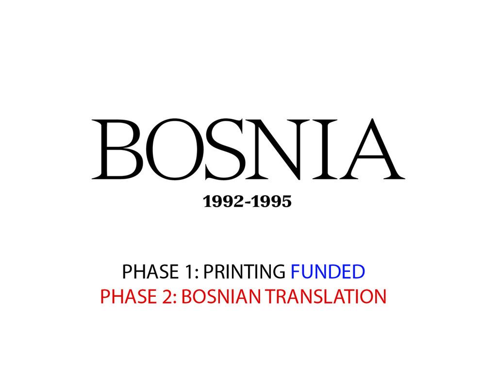 The Bosnia Book Project. Bosnia 1992 - 95's video poster