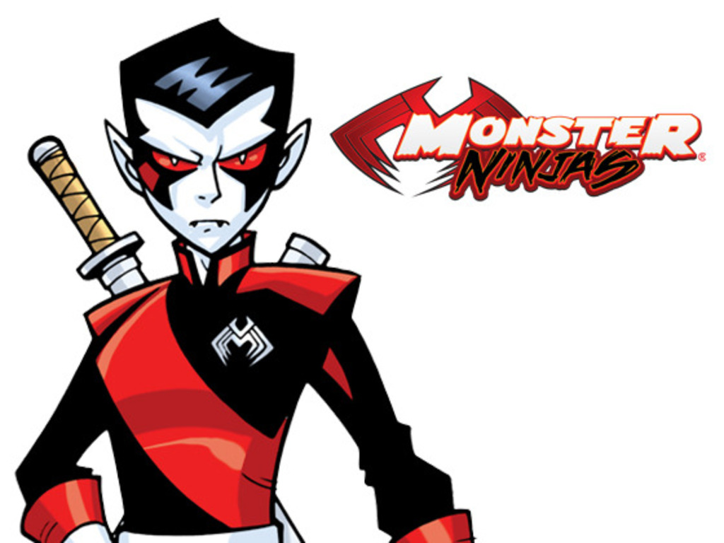 MONSTER NINJAS: deluxe hardcover graphic novel's video poster