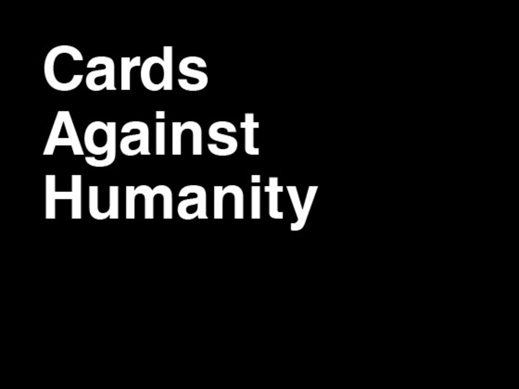 Cards Against Humanity's video poster