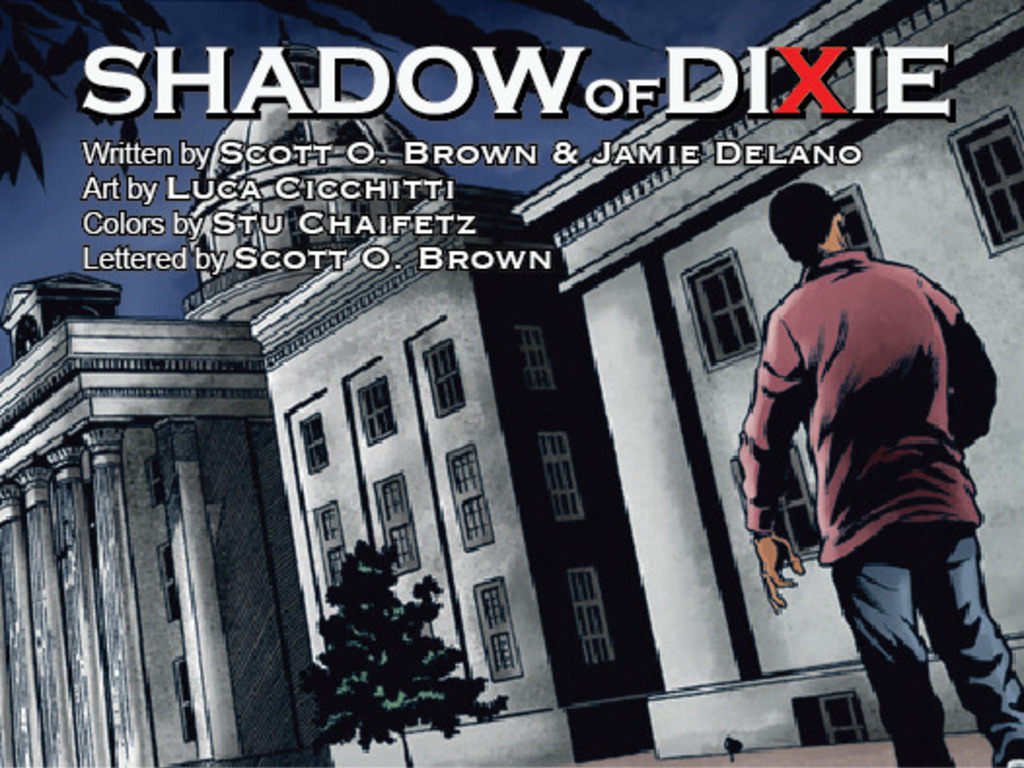 Shadow of Dixie, the graphic novel's video poster