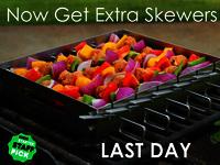 SkeweRack - safely turn all kabob skewers simultaneously