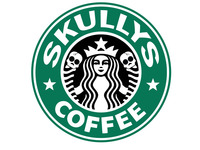 Skullys & Coffee Velcro Patch