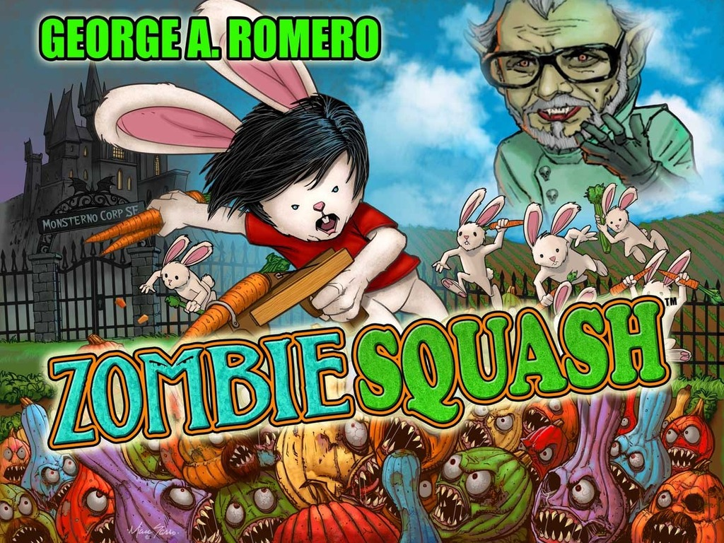 George Romero in Zombie Squash Game's video poster