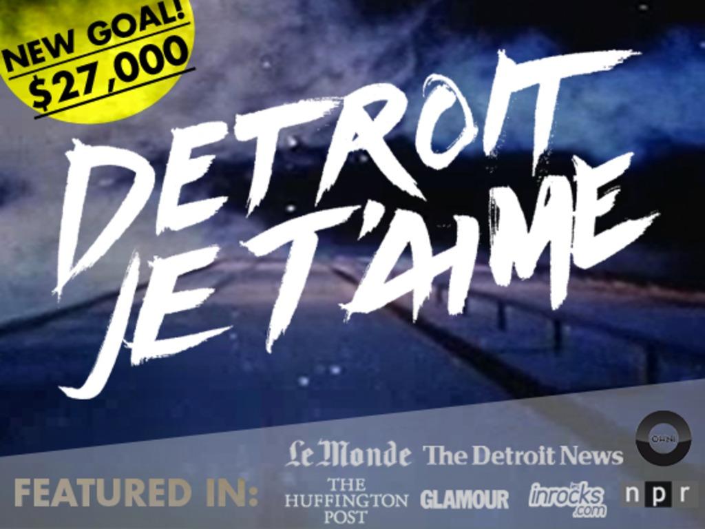 DETROIT, JE T'AIME's video poster