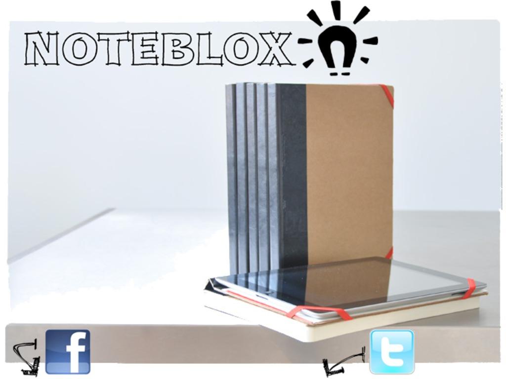 NOTEBLOX - old-school paper, new-school iPad's video poster