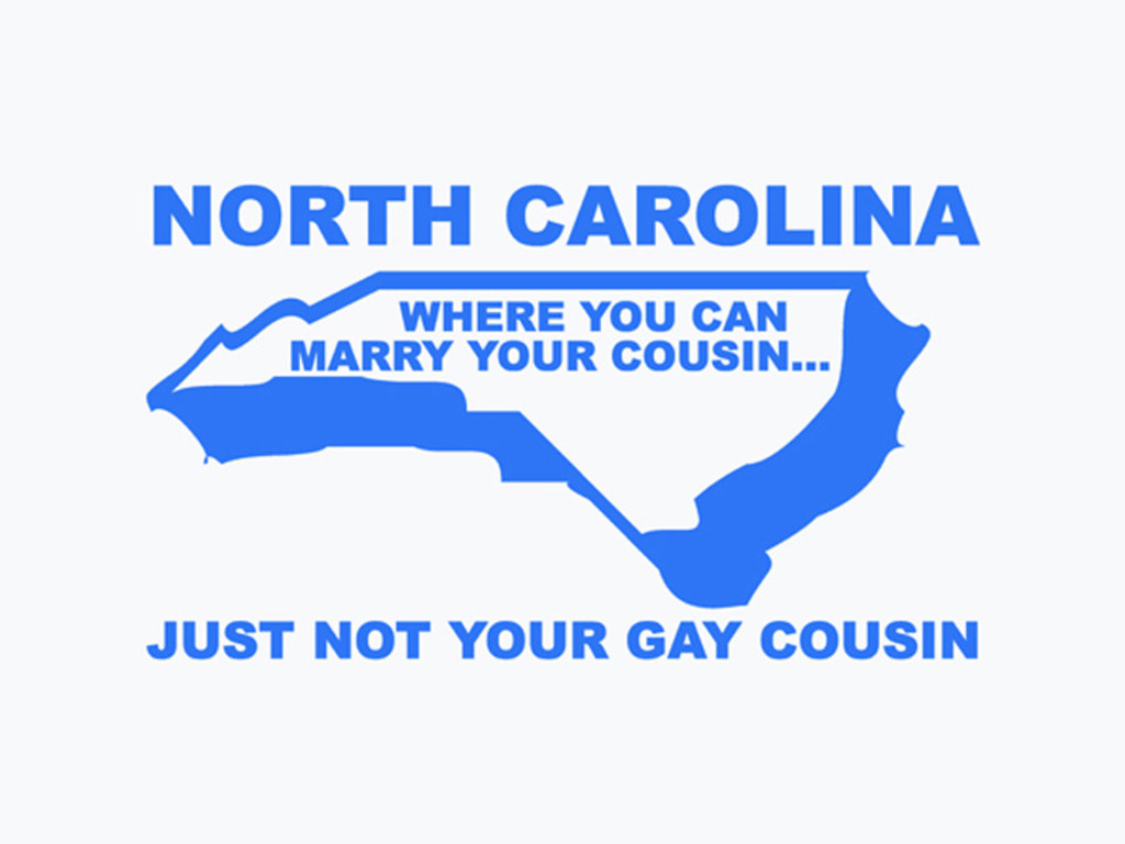 You can't marry your gay cousin in North Carolina shirt!'s video poster