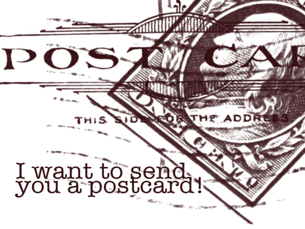 I want to send you a postcard!'s video poster