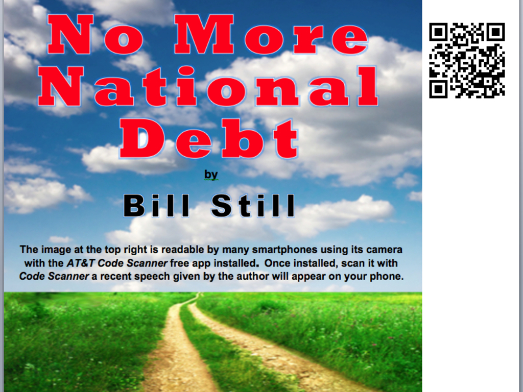 """First interactive book: """"No More National Debt""""'s video poster"""