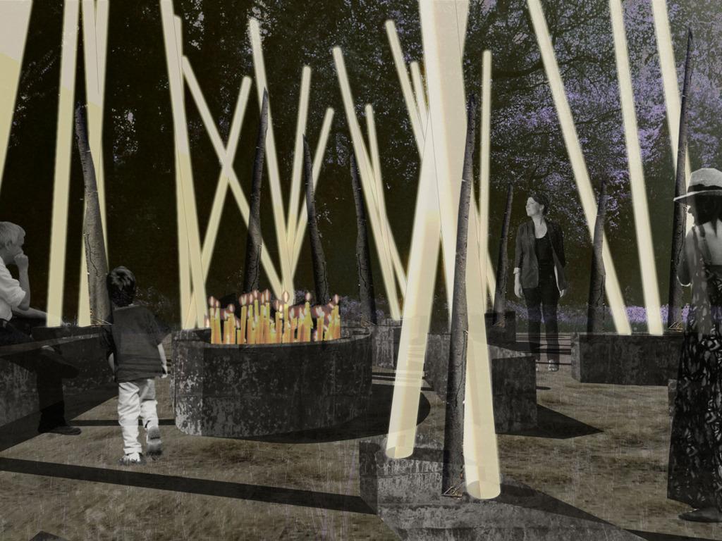 hearth: a secret garden party art installation's video poster