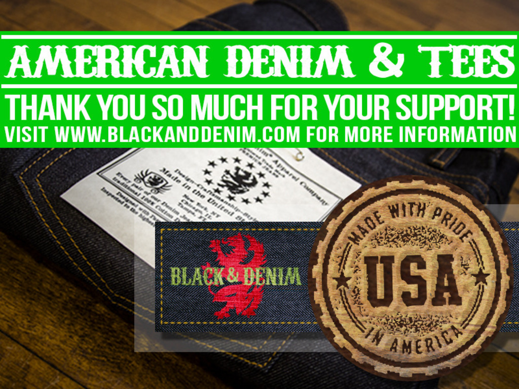 100% American-Made Selvedge Denim & Vintage Graphic Tees's video poster