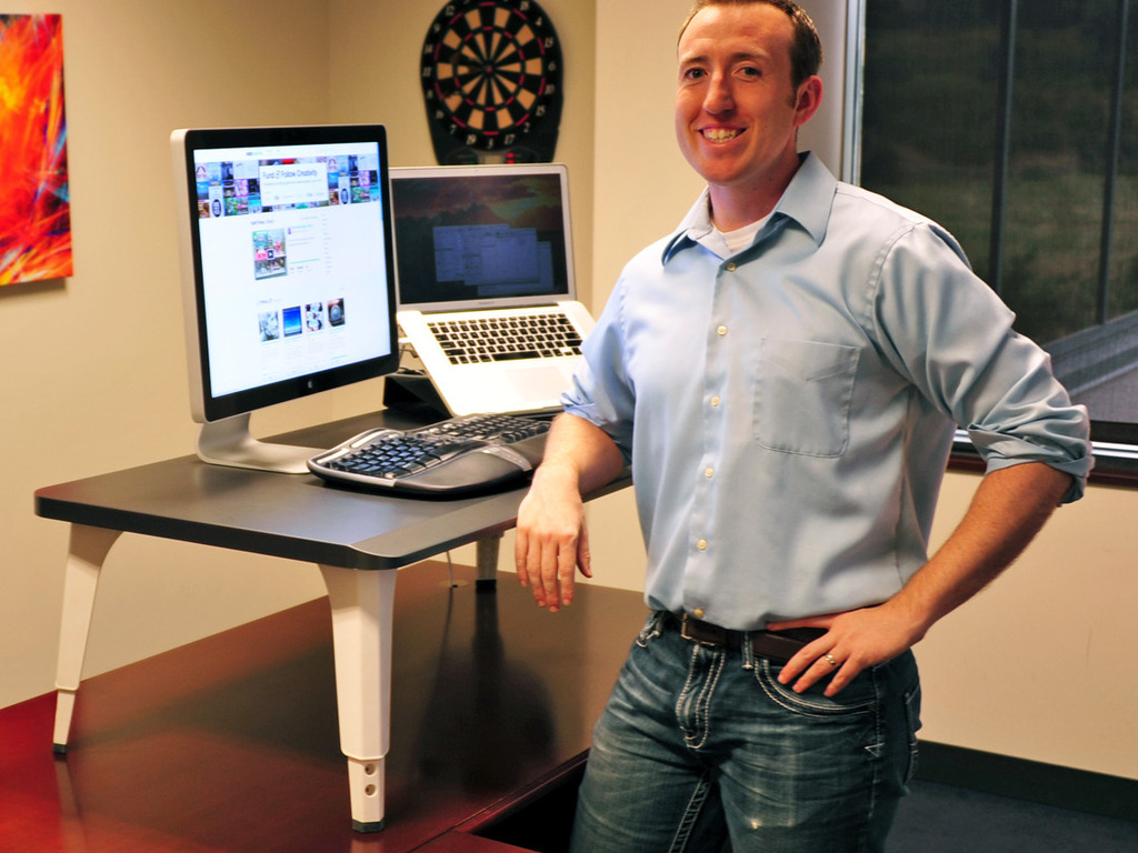 Stand-Up Desk Kit - the easiest way to stand while working's video poster