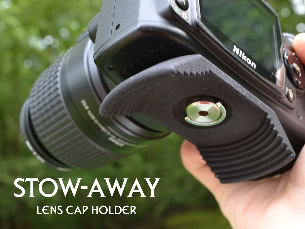 Stow-Away Lens Cap Holder for your SLR camera!'s video poster