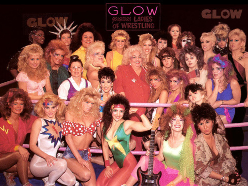 GLOW: The Story of the Gorgeous Ladies of Wrestling's video poster