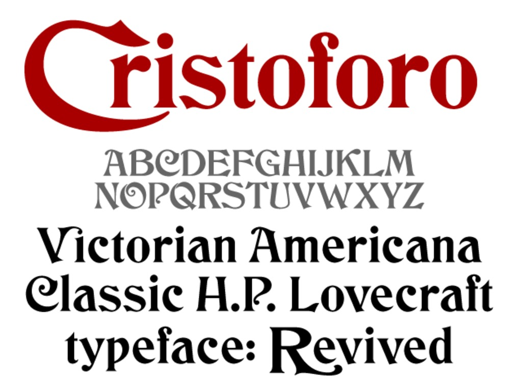 Cristoforo: Victorian Cthulhu fonts revived (again)'s video poster
