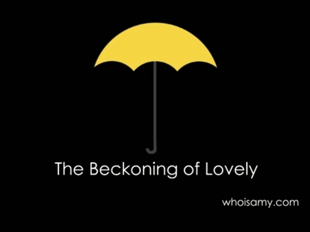 THE BECKONING OF LOVELY: a feature film featuring you's video poster
