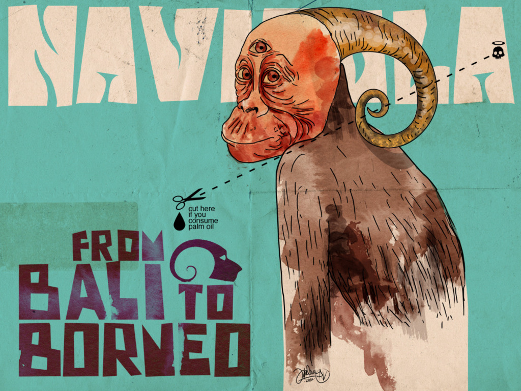 Golden Green Grunge for Rare Red Apes: Navicula Borneo Tour's video poster