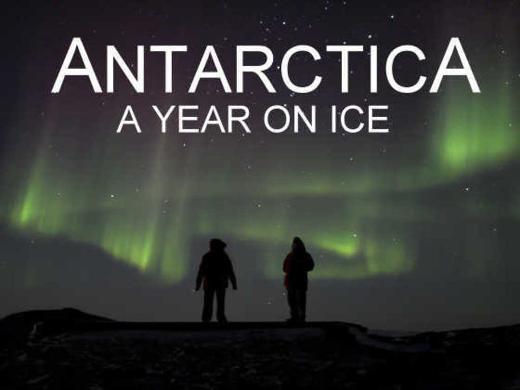 """Antarctica: A Year on Ice."" Documentary feature film's video poster"