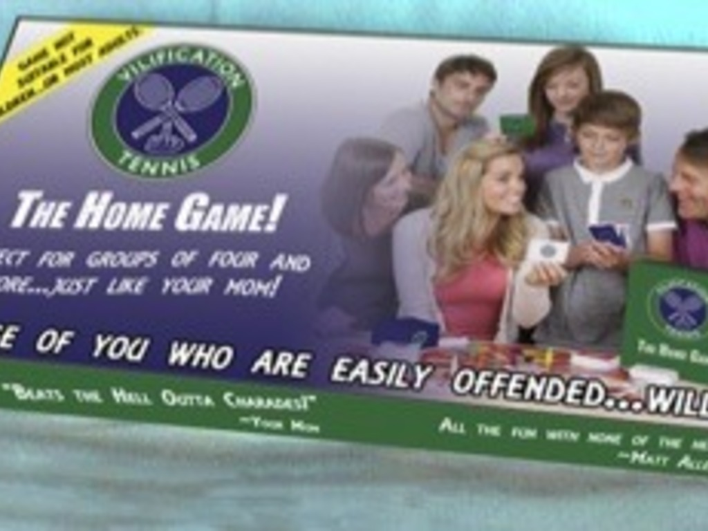 The Vilification Tennis Home Game's video poster