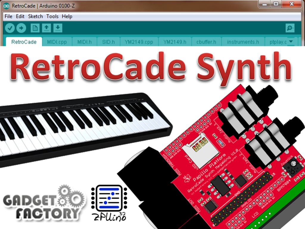RetroCade Synth - One ChipTune board to rule them all!'s video poster