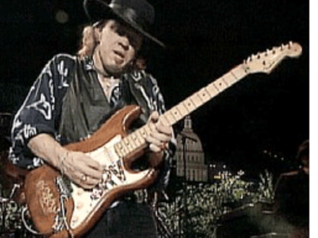 Stevie Ray Vaughan Guitar Replica of Lenny's video poster