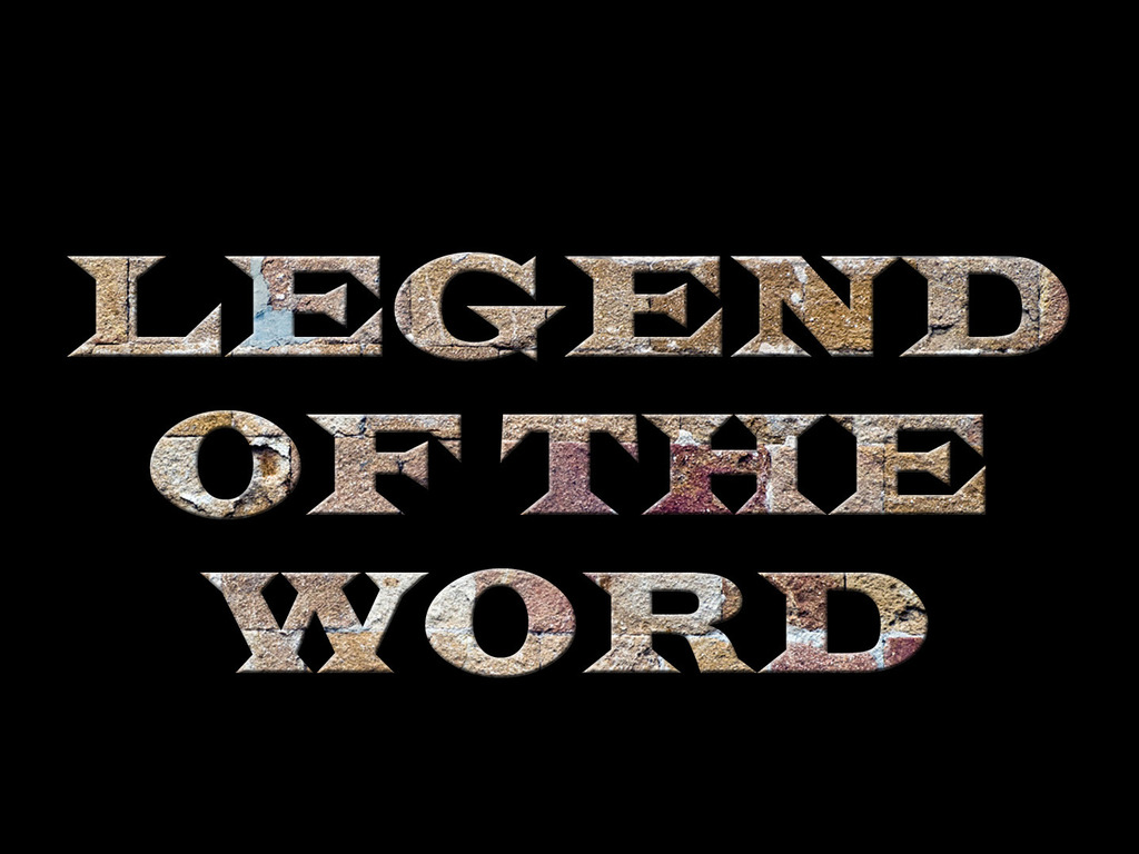 LEGEND OF THE WORD: 2012 Workshop's video poster