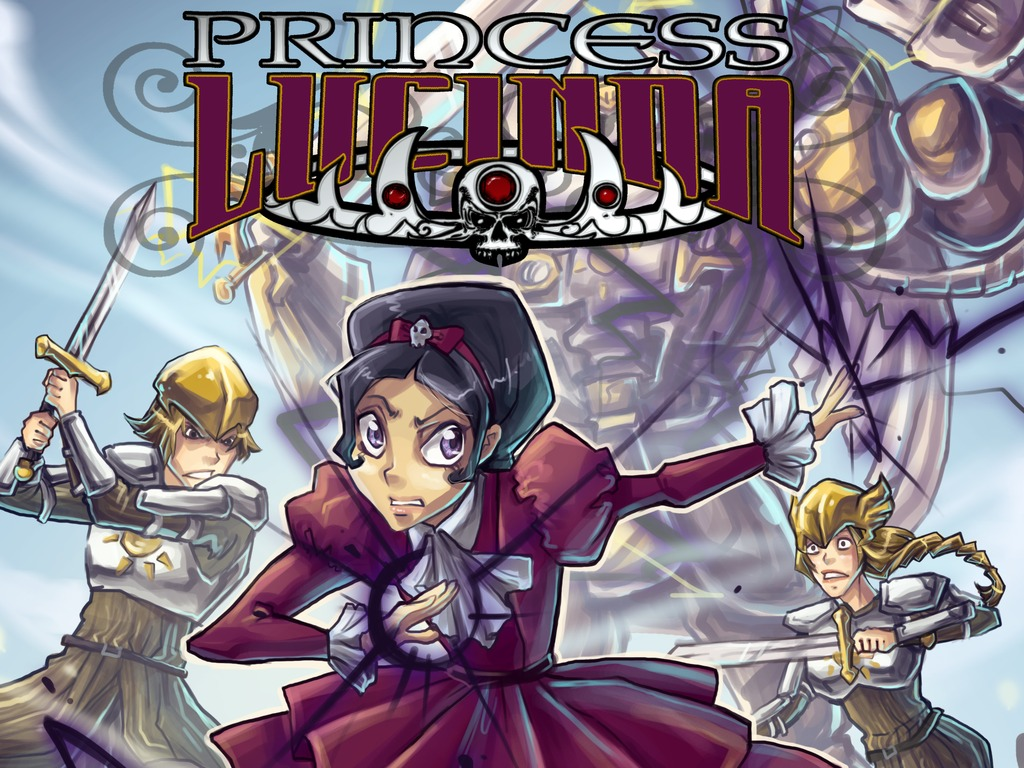 The Princess Lucinda graphic novel series's video poster