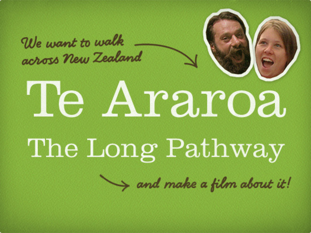 Film about walking 1800 miles across New Zealand's video poster