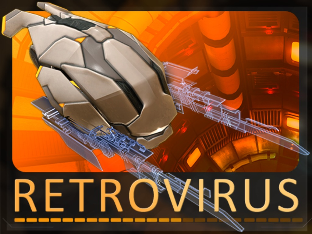Retrovirus, a six axis shooter's video poster