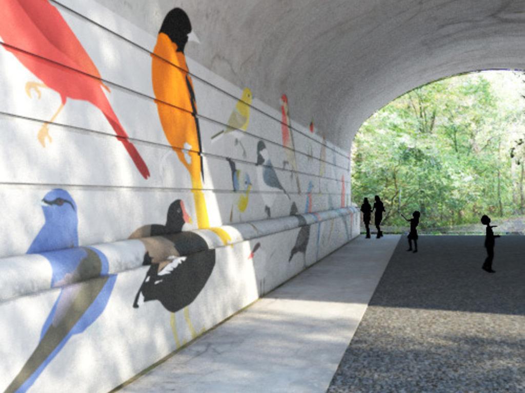 Ohio Birds Mural's video poster