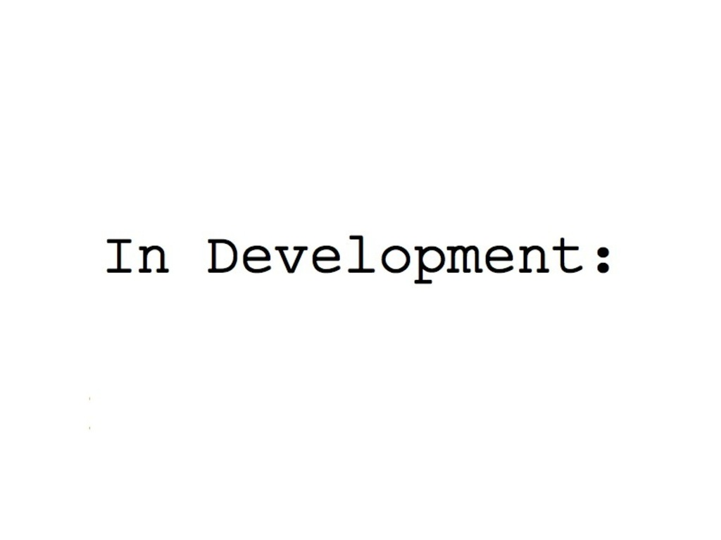 In Development:'s video poster