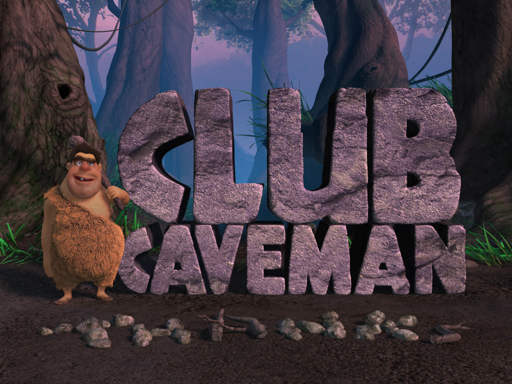 Club Caveman: movie-quality animation in an app's video poster