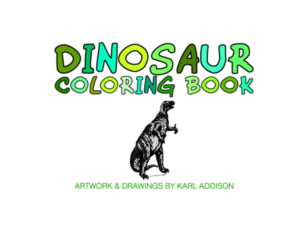 A Dinosaur Coloring Book - Drawings By Karl Addison's video poster