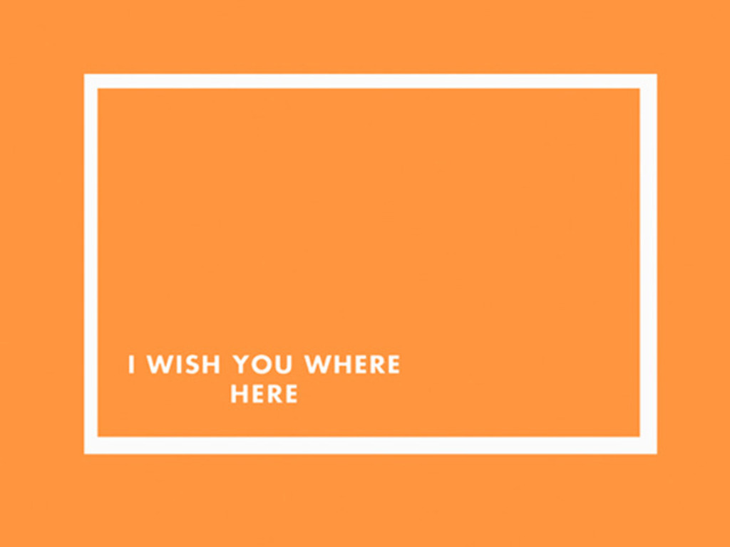 I Wish You Where Here's video poster