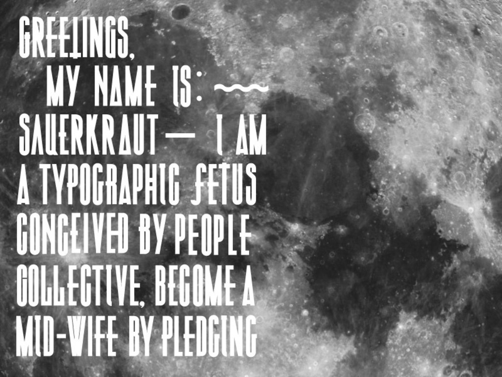 Sauerkraut Typeface's video poster